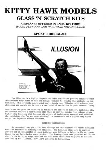 Kitty Hawk 'Illusion' Manual (RCL#2582)