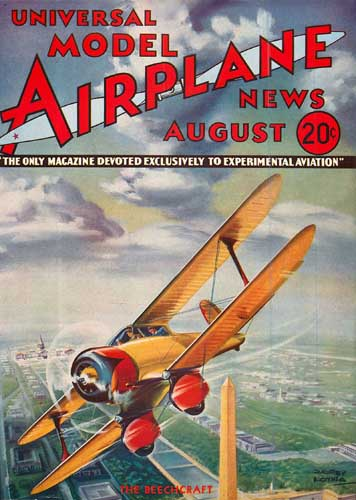 Model Airplane News 1934/08 August - click to view RCLibrary page