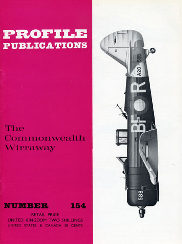 Profile Publications No. 154: Commonwealth Wirraway - cover thumbnail