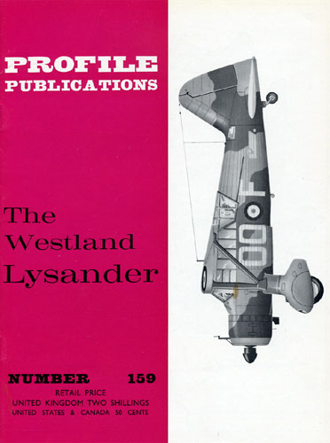 Profile Publications No. 159: Westland Lysander (RCL#2669)