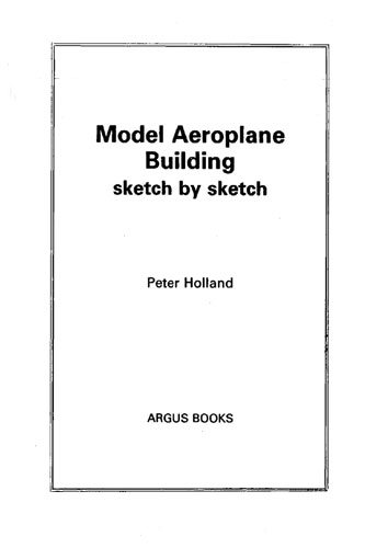 Model Aeroplane Building Sketch By Sketch (RCL#2672)