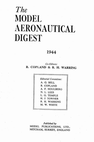 Model Aeronautical Digest (RCL#2682)