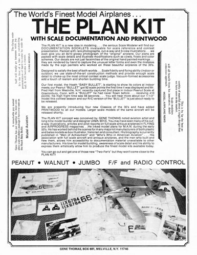 Gene Thomas Plan Kit Catalogue - click to view RCLibrary page
