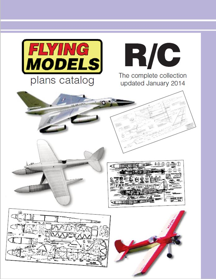 rclibrary flying models radio control plans catalog title