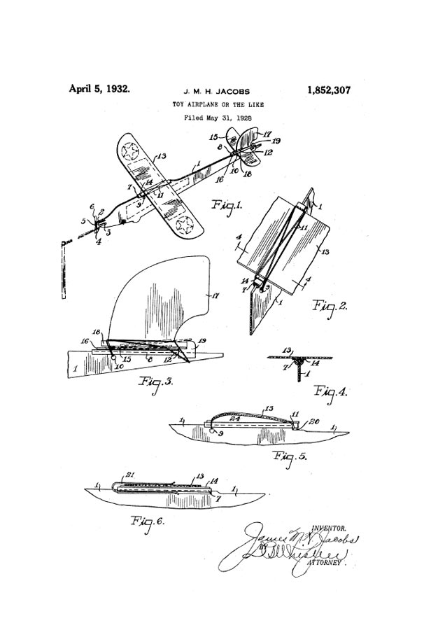 Rclibrary Patent Toy Airplane Or The Like Title Download Free
