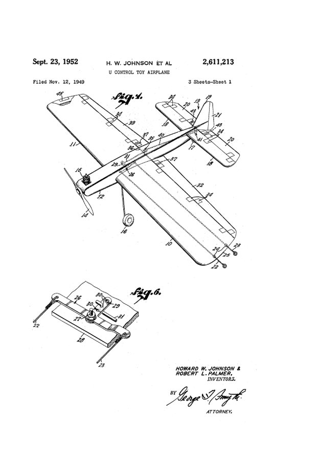 Rclibrary Patent U Control Toy Airplane Title Download Free