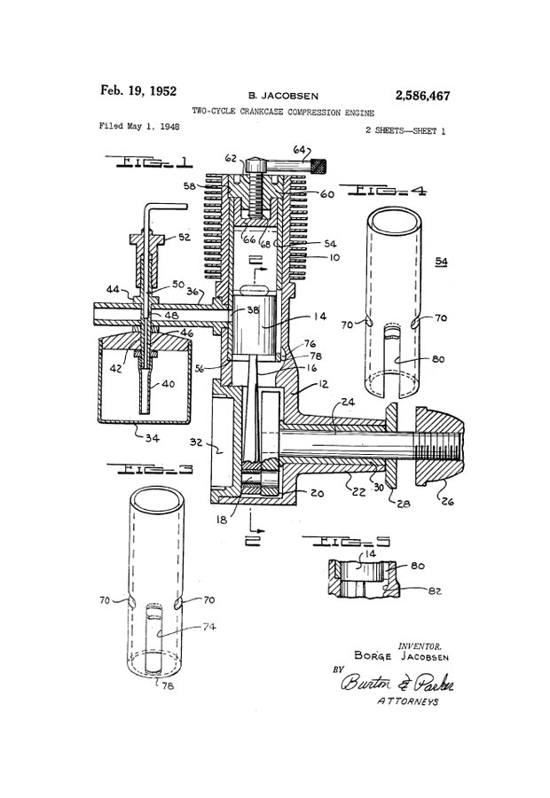 Rclibrary Patent Two Cycle Crankcase Compression Engine