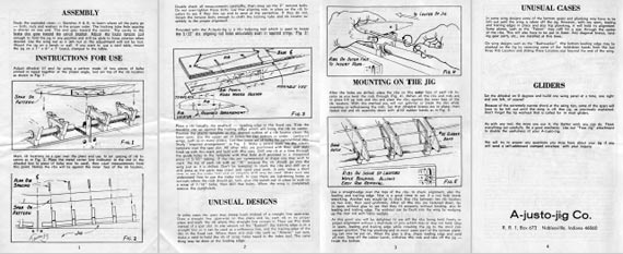 A-justo-jig wing jig Manual - page scan thumbnails