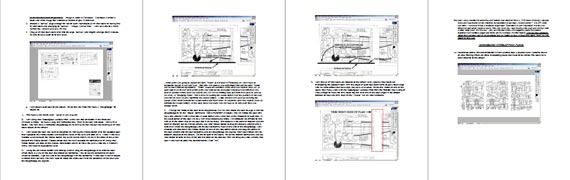 Restoring & Preparing Plans Using Photoshop - page scan thumbnails