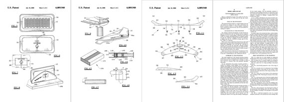 Patent: Model Airplane Kit [Foam tray glider] - page scan thumbnails
