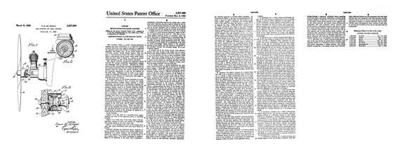 Patent: Self-Starter for Model Engines [Cox] - page scan thumbnails