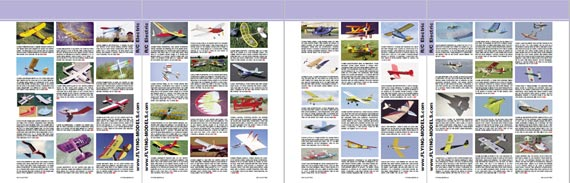 Flying Models Radio Control Plans Catalog - page scan thumbnails