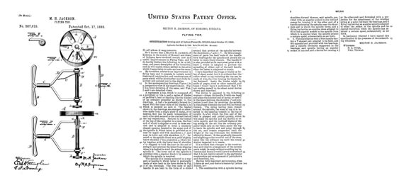 Patent: Flying Top - page scan thumbnails