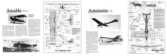 Scale Aircraft Drawings, Volume 1 - World War I - page scan thumbnails