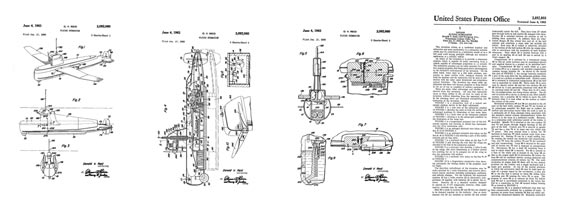 Patent: Flying Submarine - page scan thumbnails
