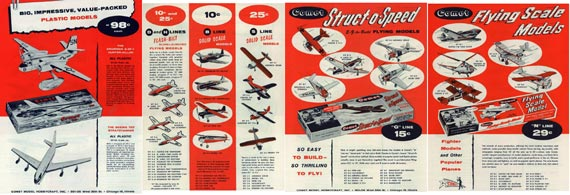 Comet Model Airplane Kits 1955 - page scan thumbnails