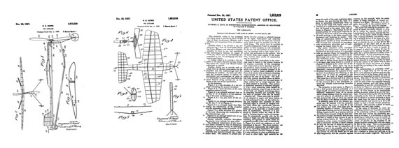 Patent: Toy Airplane - page scan thumbnails