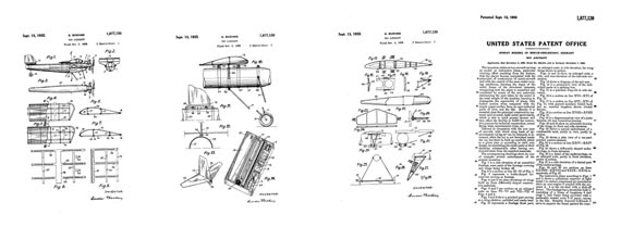 Patent: Toy Aircraft - page scan thumbnails