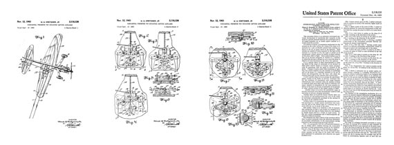 Patent: Overcontrol Preventer for Miniature Captive Airplanes - page scan thumbnails