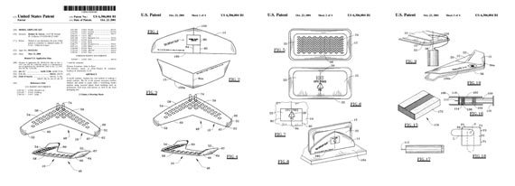 Patent: Model Airplane Kit - page scan thumbnails