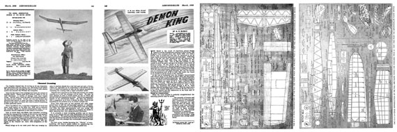 AeroModeller 1950/03 March - page scan thumbnails