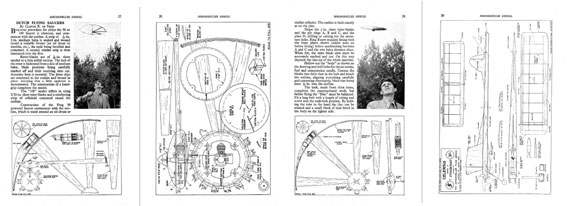 AeroModeller Annual 1953 - page scan thumbnails