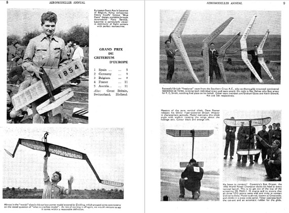 AeroModeller Annual 1956-57 - page scan thumbnails
