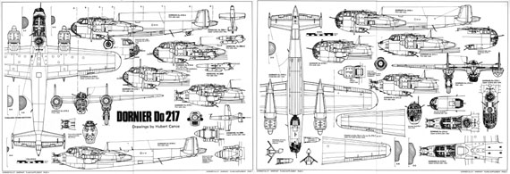 Warpaint Series No. 024: Dornier Do 217 - page scan thumbnails