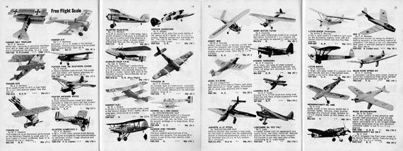 Plans Handbook 1: Aeromodelling - page scan thumbnails