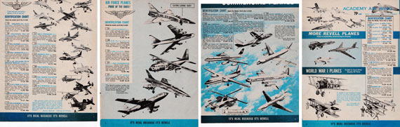 Revell Authentic Kits Catalogue - page scan thumbnails