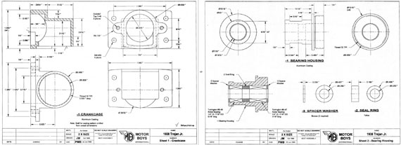 Motor Boys International Model Engine Plan Book - page scan thumbnails