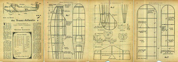 Model Airplane News 1931/02 February - page scan thumbnails